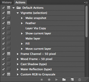 Actions and Scripts in Adobe Photoshop